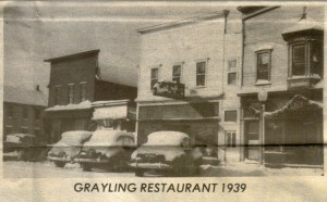 Grayling Restaurant 1939