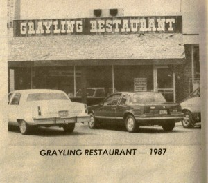 Grayling Restaurant 1987